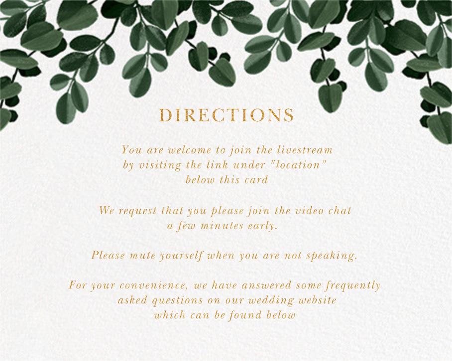 Herrgarde (Invitation) - Paperless Post - Virtual wedding - insert front