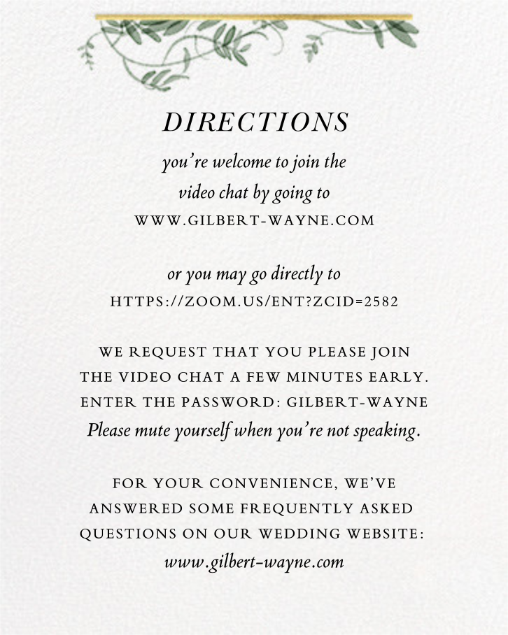 Thirlmere (Invitation) - Paperless Post - Virtual wedding invitations - insert front
