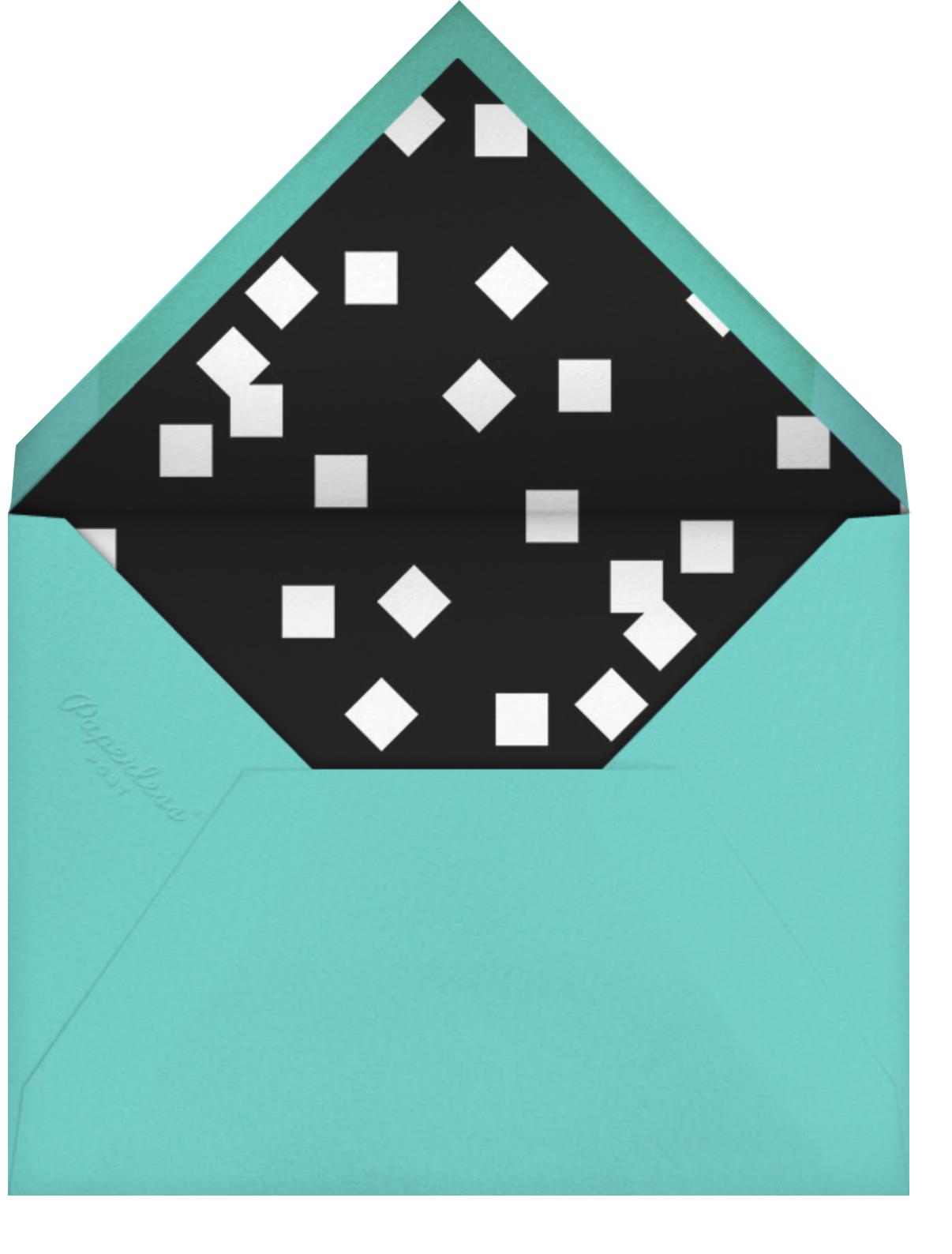 Painted Circle (Invitation) - White - Paperless Post - Virtual wedding - envelope back