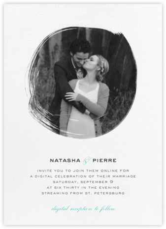 Painted Circle (Invitation) - White - Paperless Post - Virtual Wedding Invitations