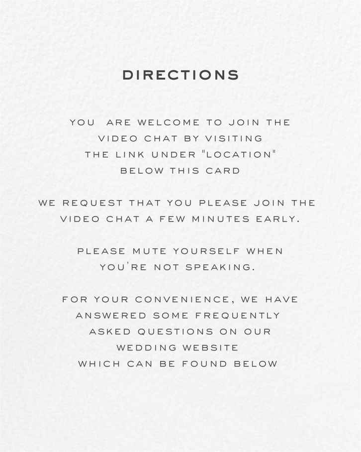 Painted Circle (Invitation) - White - Paperless Post - Virtual wedding - insert front