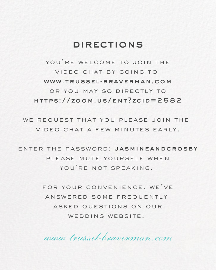 Painted Circle (Invitation) - White - Paperless Post - Virtual wedding invitations - insert front