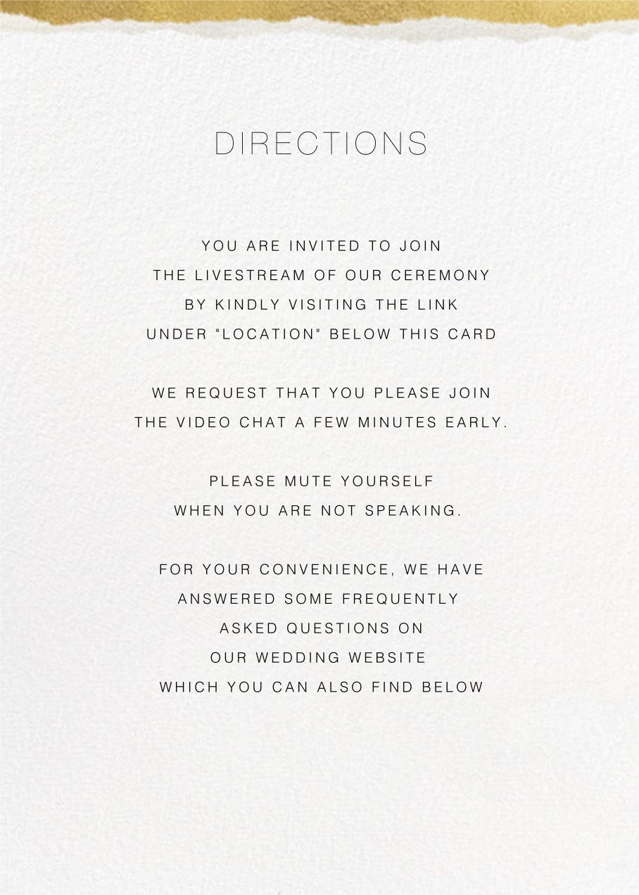 Raw Edge (Invitation) - Paperless Post - Virtual wedding - insert front