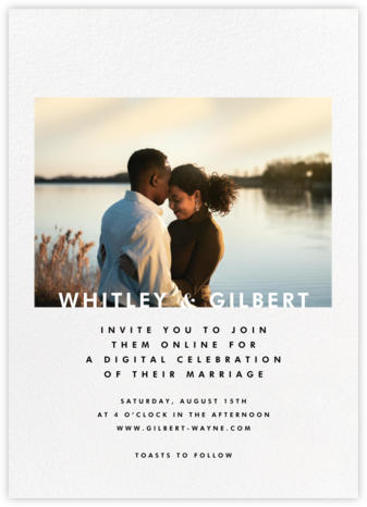 Horizontal Photo on Tall (Invitation) - Paperless Post - Virtual Wedding Invitations