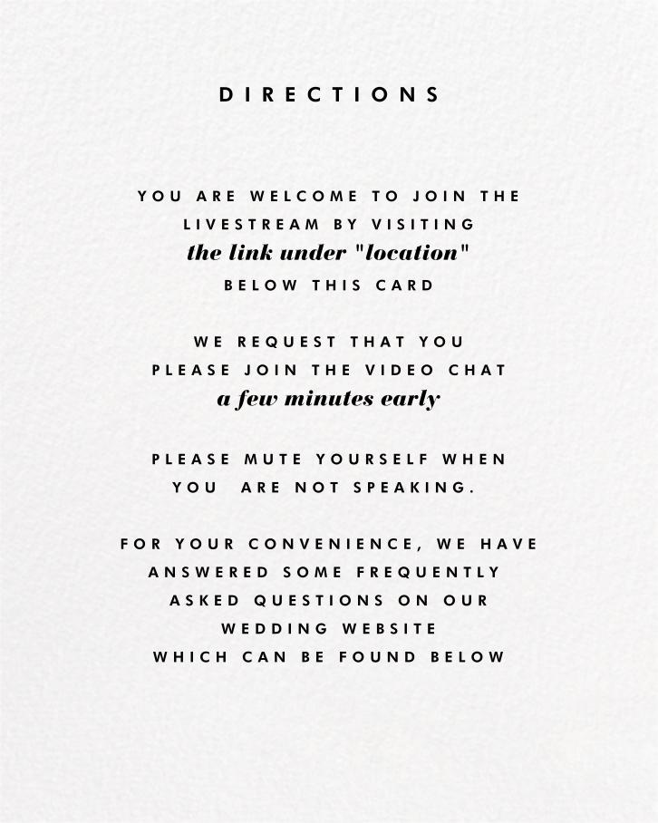 Horizontal Photo on Tall (Invitation) - Paperless Post - Virtual wedding - insert front