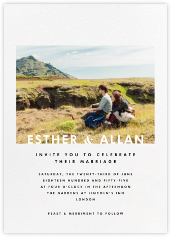 Horizontal Photo on Tall (Invitation) - Paperless Post - Modern wedding invitations