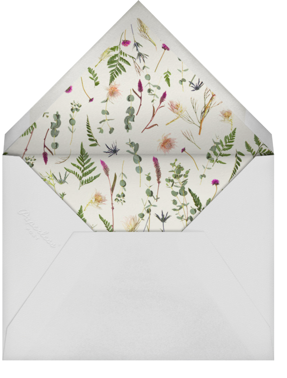 Fleurs Sauvages (Tall) - Paperless Post - Virtual wedding - envelope back