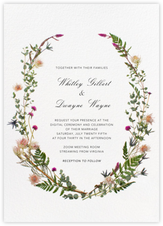 Fleurs Sauvages (Tall) - Paperless Post - Virtual Wedding Invitations