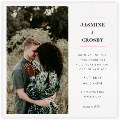 Split Square (Invitation) - Paperless Post - Virtual Wedding Invitations