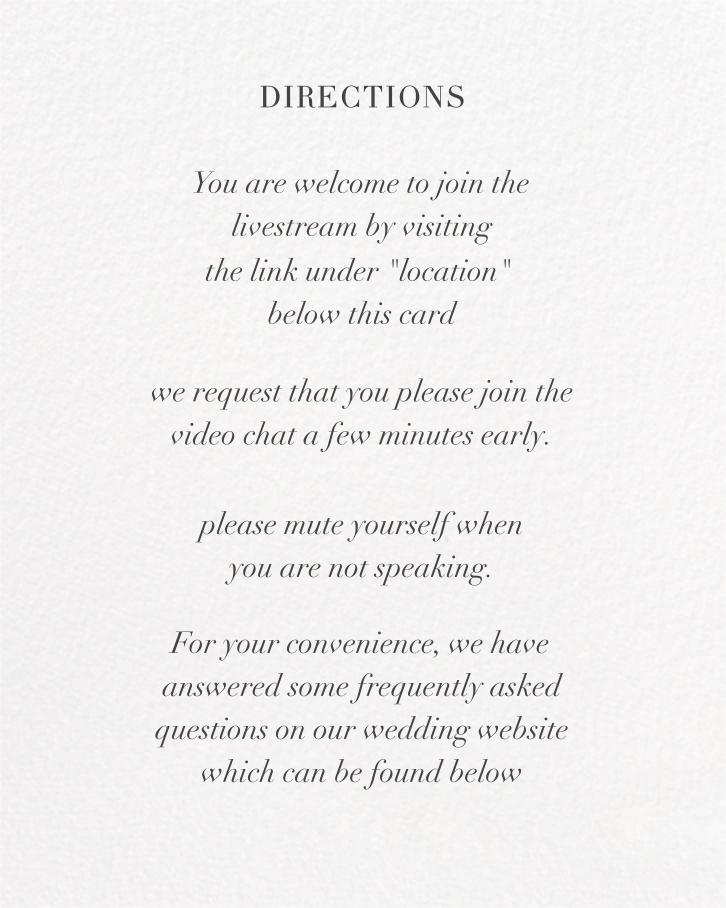 Split Square (Invitation) - Paperless Post - Virtual wedding - insert front