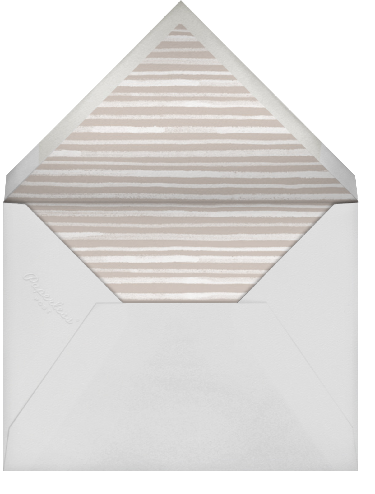 Tropical Palm - White - Paperless Post - Virtual wedding - envelope back