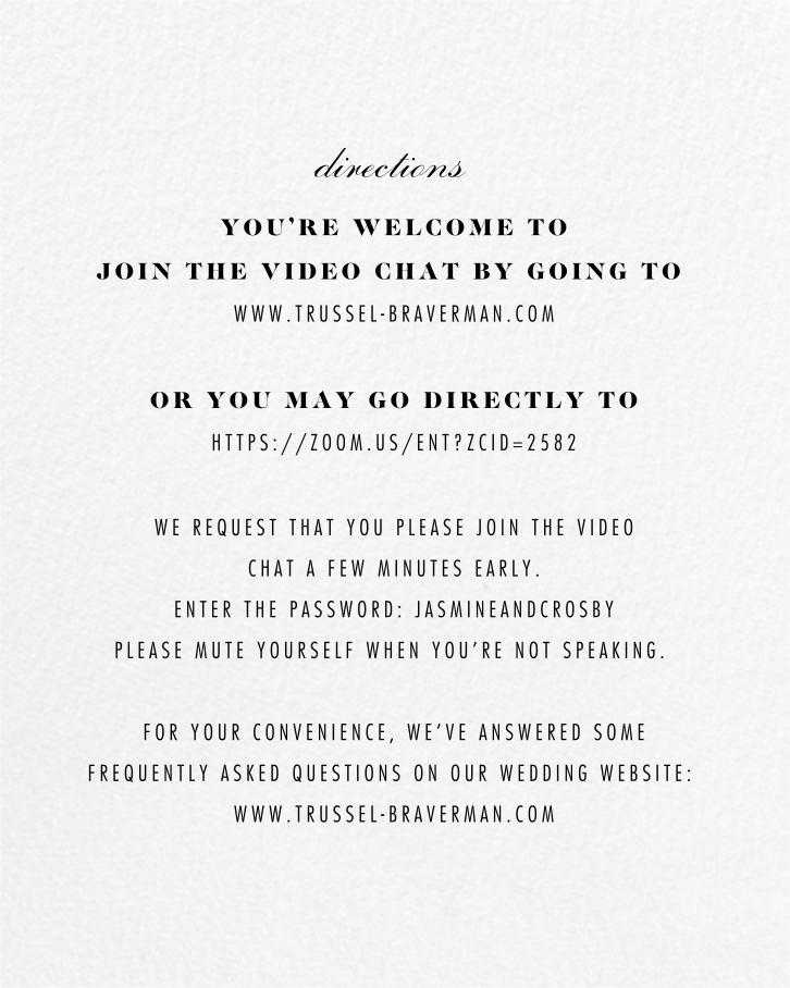 Bristle - Paperless Post - Virtual wedding - insert front