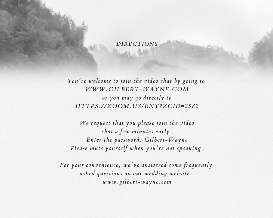 Dissolve (Invitation) - & - Paperless Post - Virtual wedding invitations - insert front
