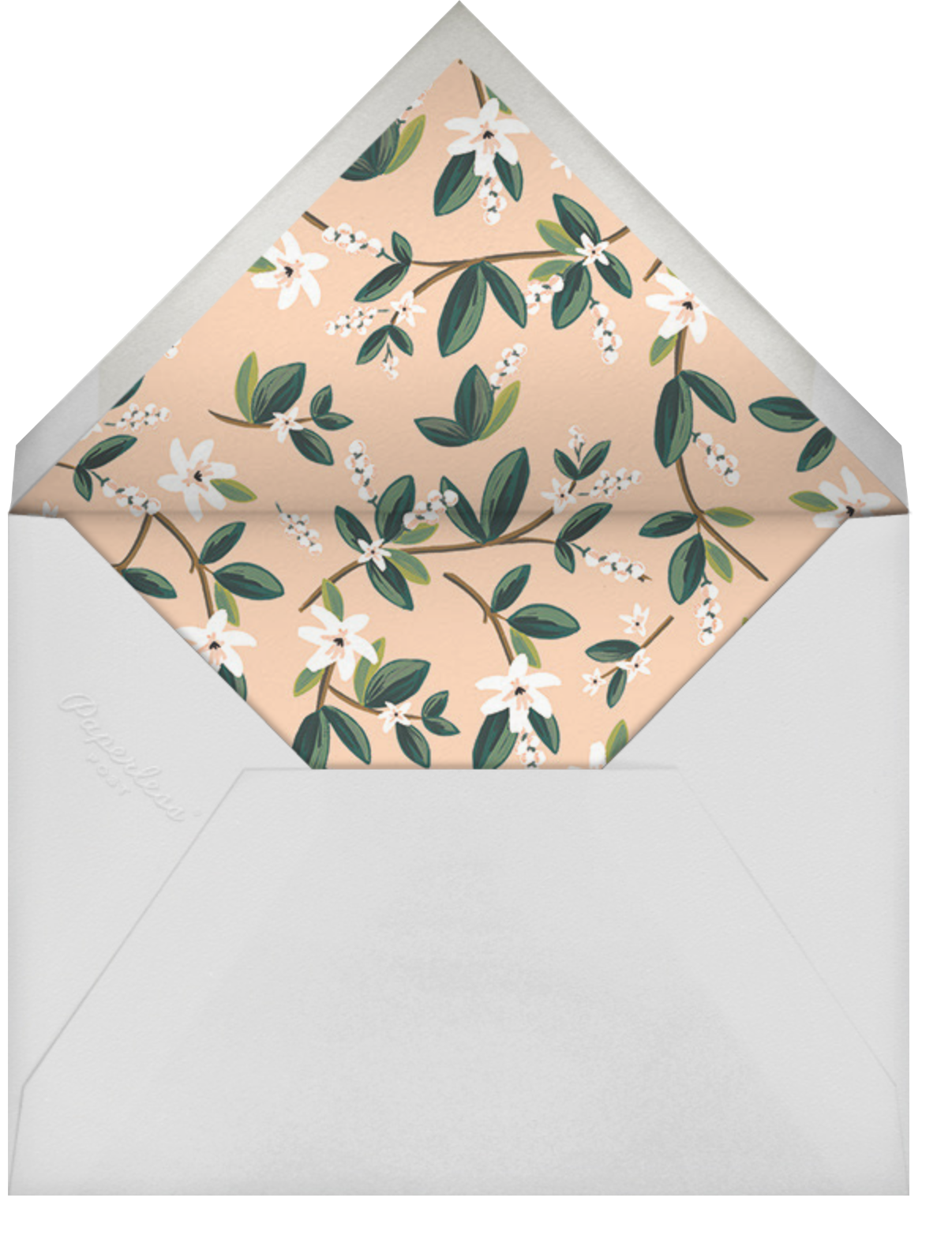 November Herbarium (Invitation) - Rifle Paper Co. - Virtual wedding invitations - envelope back