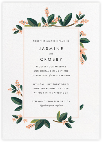 November Herbarium (Invitation) - Rifle Paper Co. - Virtual Wedding Invitations