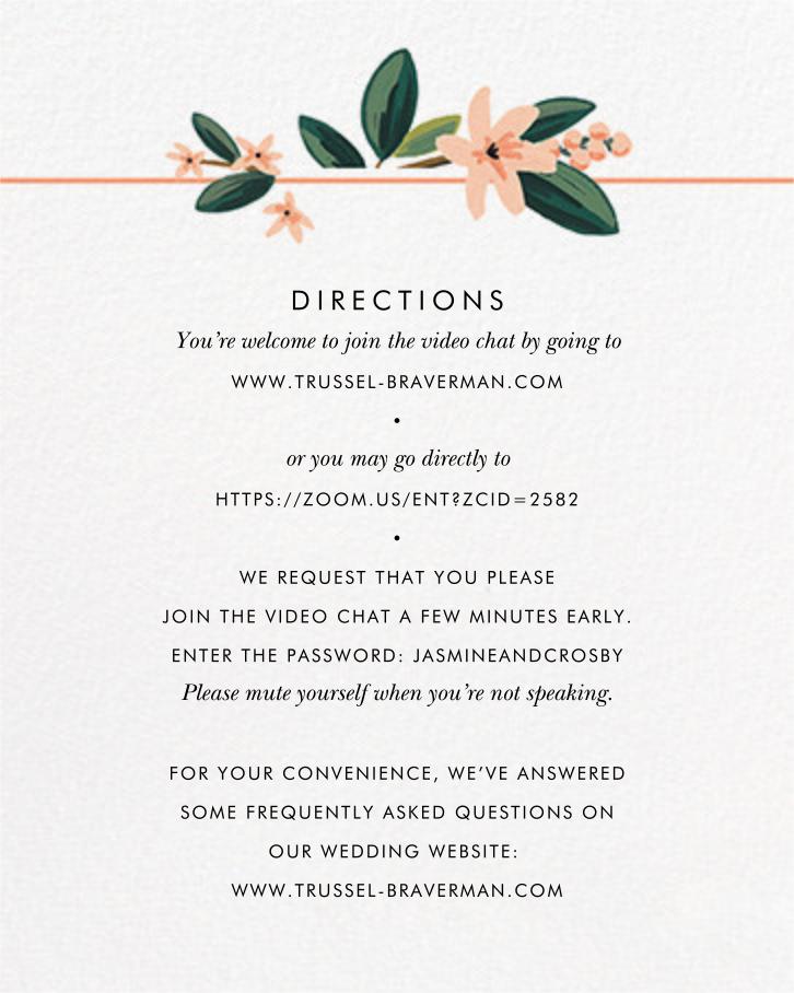 November Herbarium (Invitation) - Rifle Paper Co. - Virtual wedding invitations - insert front