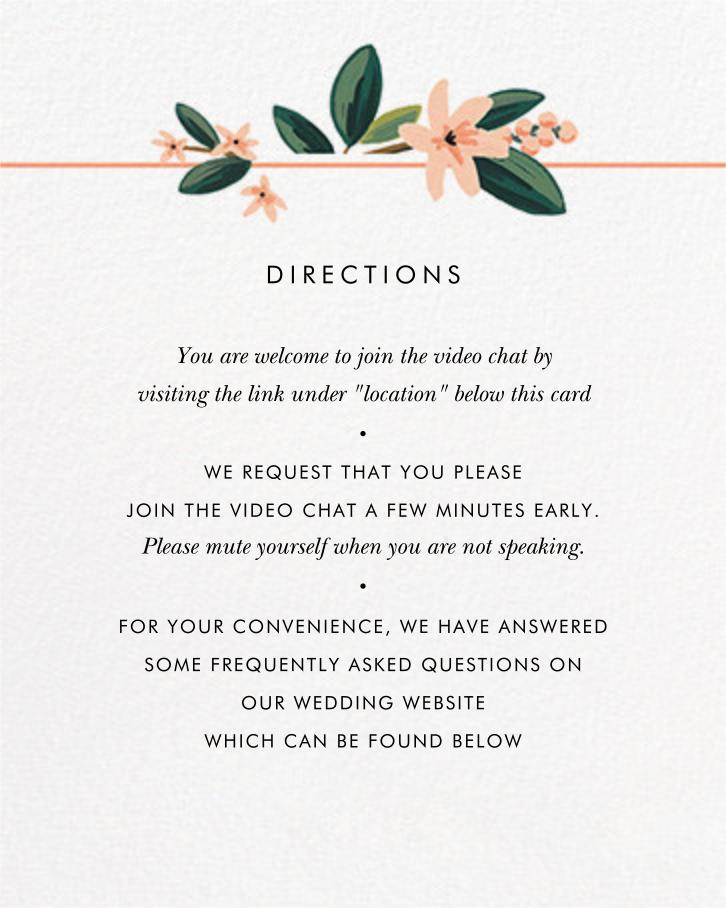 November Herbarium (Invitation) - Rifle Paper Co. - Virtual wedding - insert front