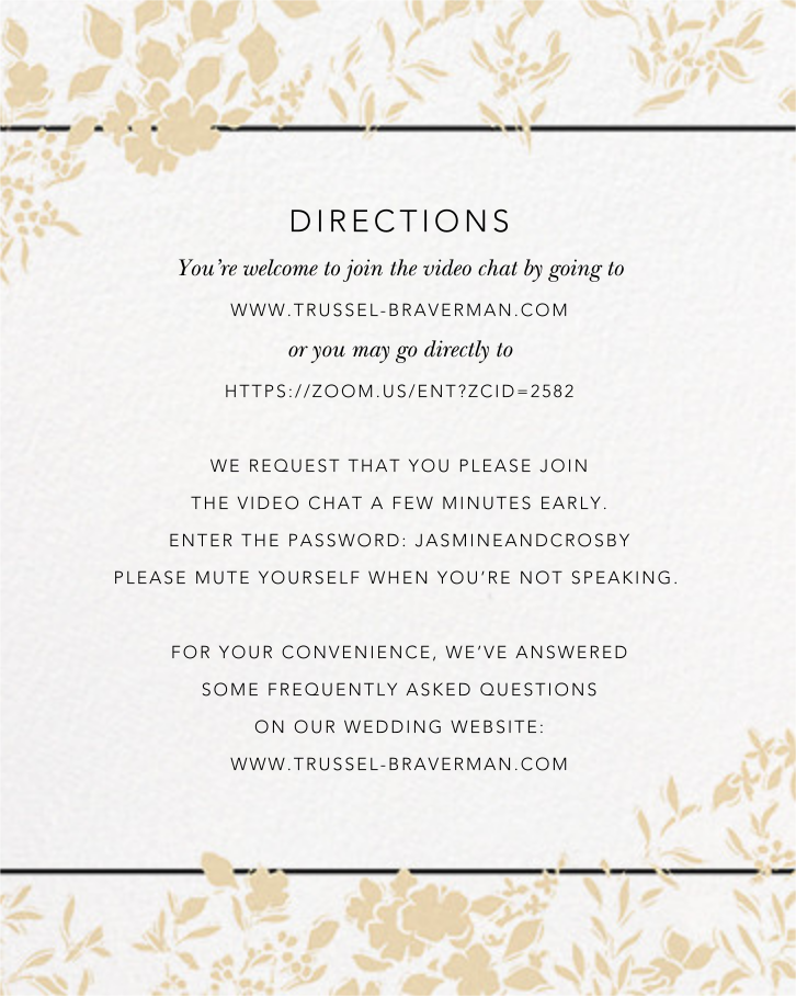 Richmond Park (Invitation) - White/Gold - Oscar de la Renta - All - insert front