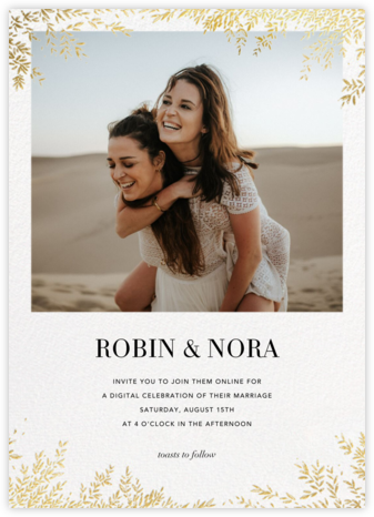 Leaves of Gold (Invitation) - Paperless Post - Virtual Wedding Invitations