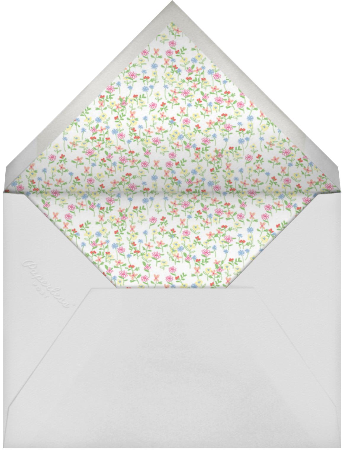 Floral Support - Lingerie - Paperless Post - Bridal shower - envelope back
