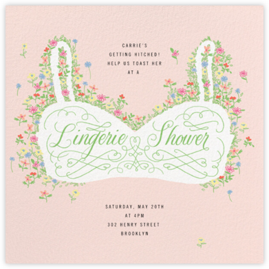 Floral Support - Lingerie - Paperless Post - Bridal shower invitations