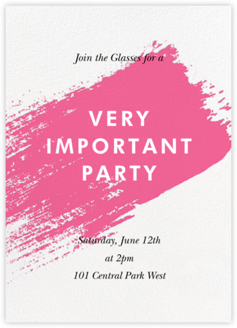 Impasto - Pink - Paperless Post - General Entertaining Invitations