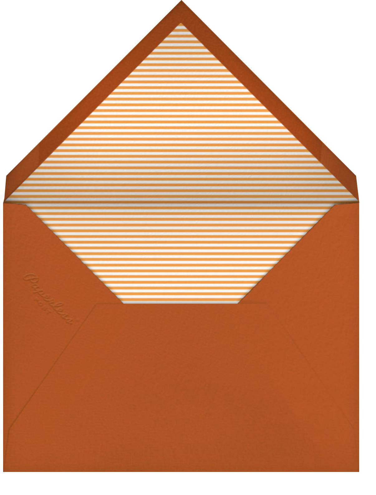 Train (Horizontal) - Petit Collage - Baby shower - envelope back