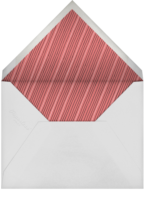 Schoolyard Pinstripe - Coral Black - Paperless Post - Personalized stationery - envelope back