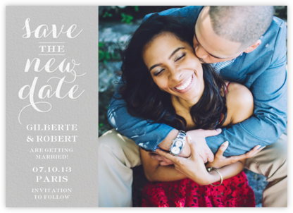 Photo Flourish - New Date - Paperless Post - Photo save the dates