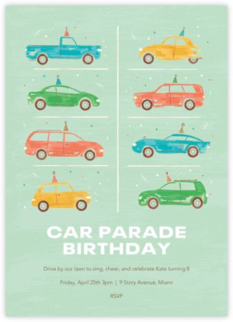 Party Cars - Paperless Post - Virtual Parties