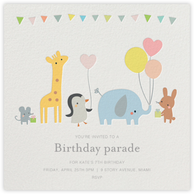 Party March - Little Cube - Online Kids' Birthday Invitations