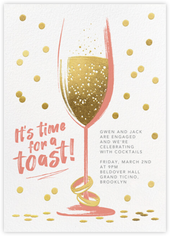 Golden Toast - Papaya - Paperless Post - Engagement party invitations