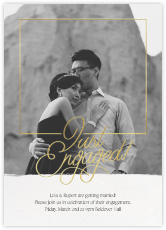 Love Flourishes - Paperless Post - Engagement party invitations