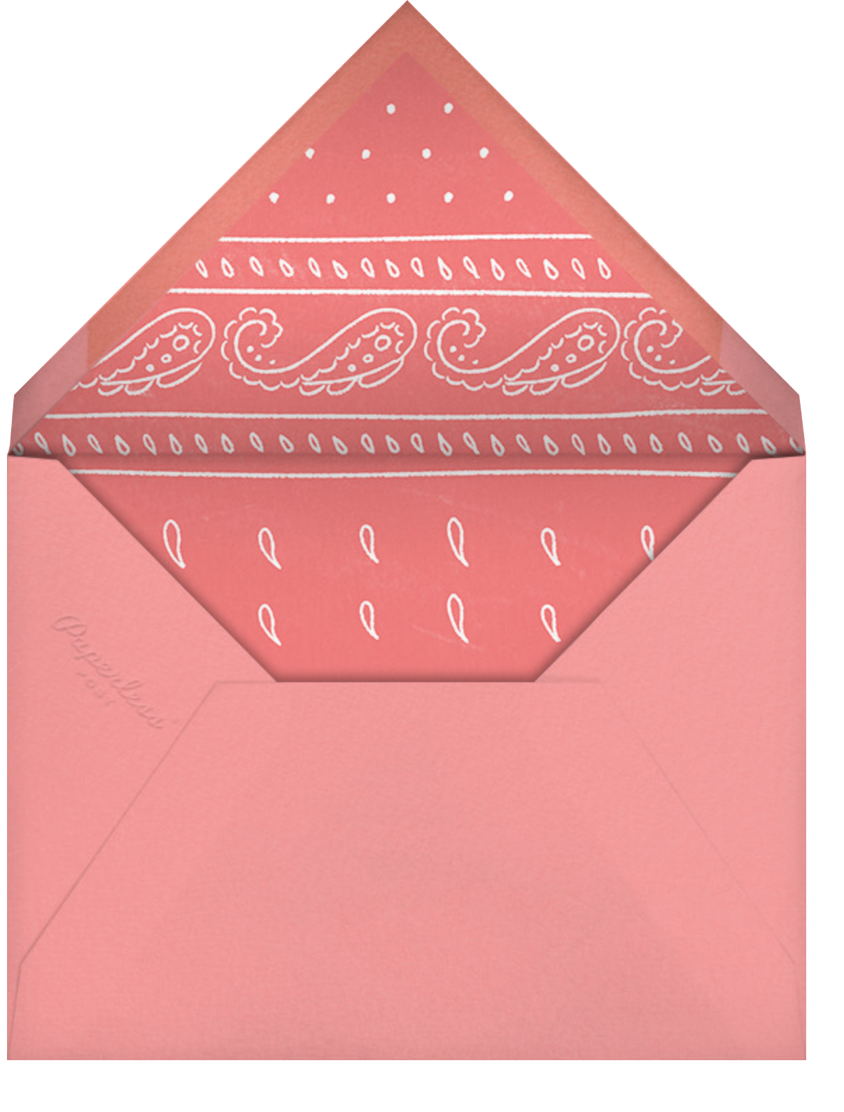 Boot Up - Paperless Post - Bachelorette party - envelope back