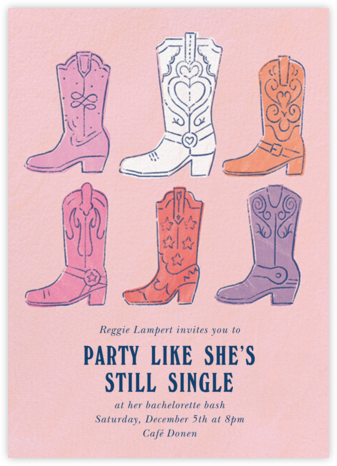 Boot Up - Paperless Post - Bachelorette Party Invitations