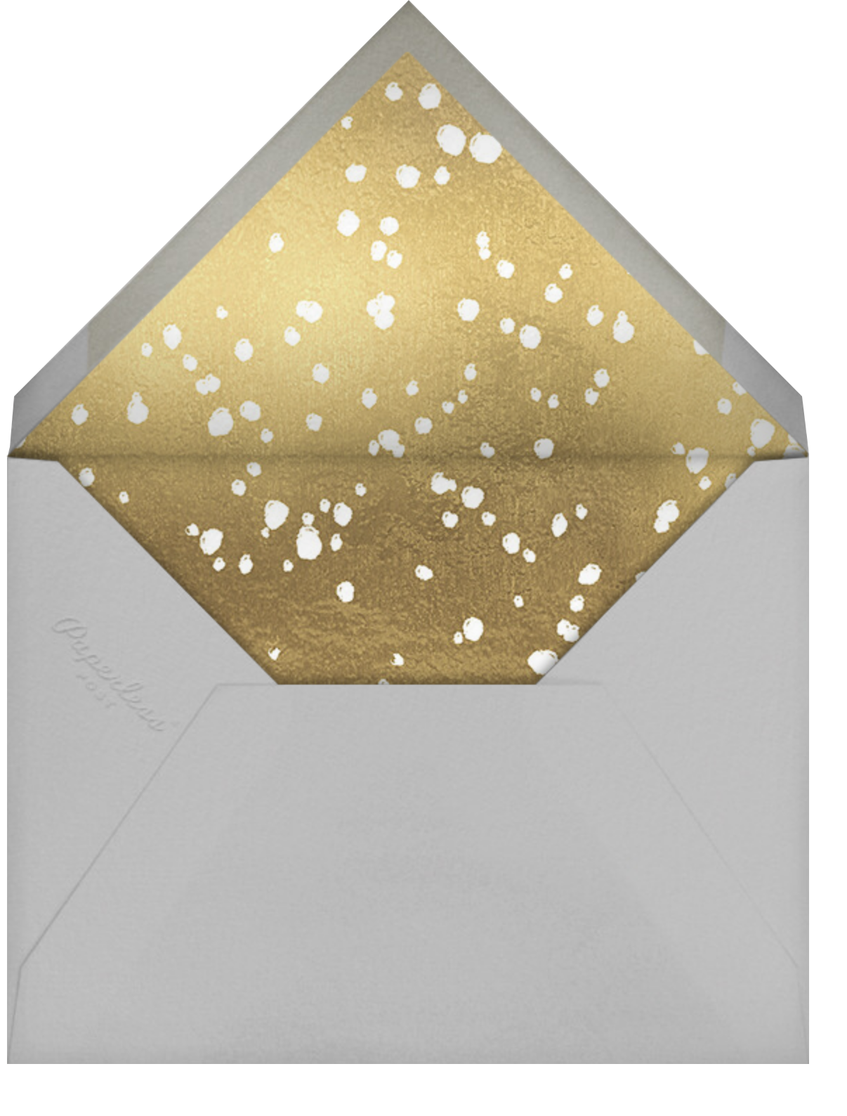 Golden Toast - Gray - Paperless Post - Rehearsal dinner - envelope back