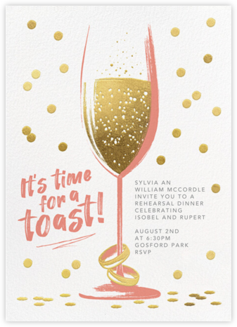Golden Toast - Papaya - Paperless Post - Wedding Weekend Invitations