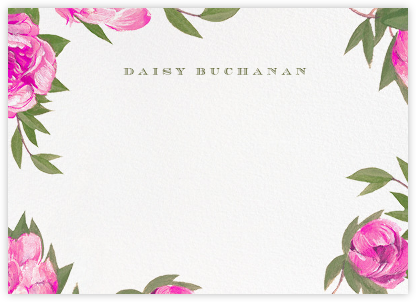 Pink Peony Border - Paperless Post - Personalized stationery
