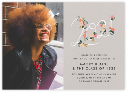 Botanic Year Photo - Gray - Rifle Paper Co. - Online Party Invitations
