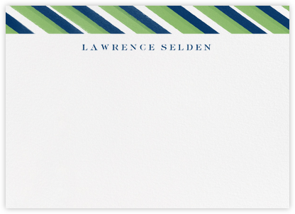 Diagonal Stripe - Meadow Dark Blue - Paperless Post -