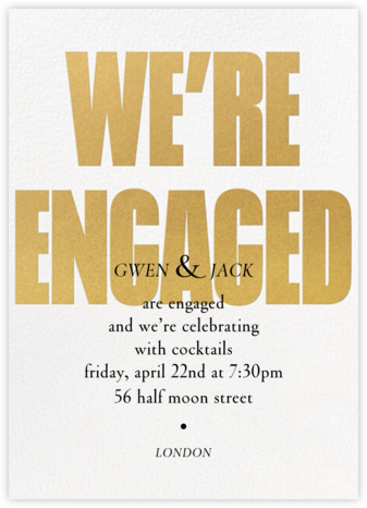 Huge News - Paperless Post - Engagement party invitations