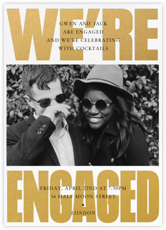Huge News Photo - Paperless Post - Engagement party invitations
