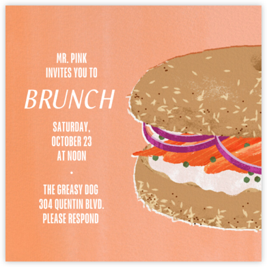 Bagel Brunch - Paperless Post - Brunch invitations