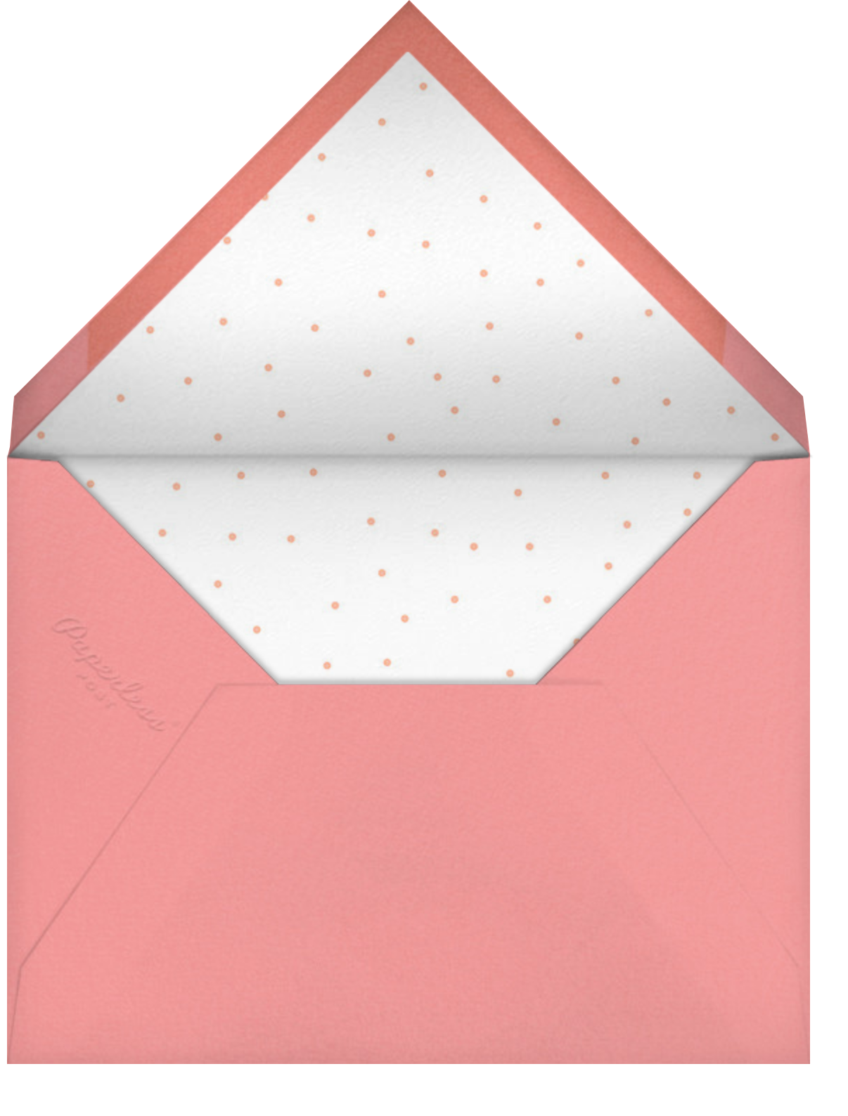 Gold Candle - Meringue - Paperless Post - First birthday - envelope back