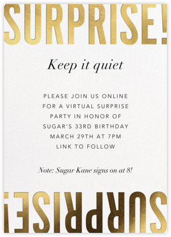 Flip the Script - Surprise - Paperless Post - Birthday invitations