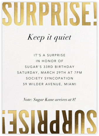 Flip the Script - Surprise - Paperless Post - Adult Birthday Invitations