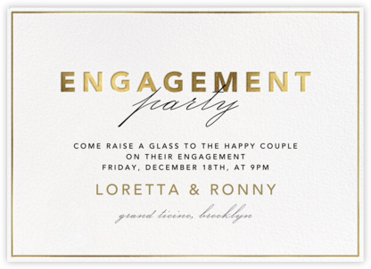 Shining Gold - Engagement - Paperless Post - Engagement party invitations