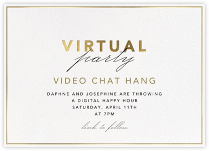 Shining Gold - Virtual - Paperless Post - Online Party Invitations