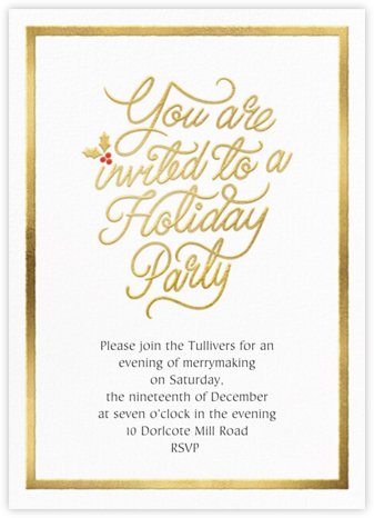 Spirited Script - Holiday - Paperless Post -