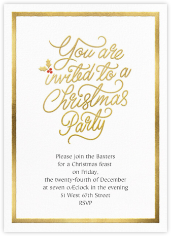 Spirited Script - Christmas - Paperless Post - Holiday and Christmas